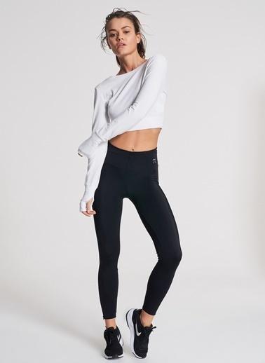 Pi π Crop Sweatshirt Beyaz